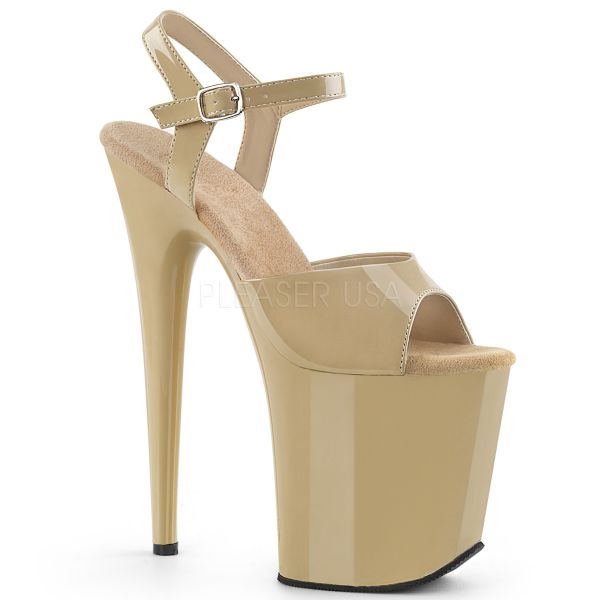 Plateau Sandalette in cream Lack FLAMINGO-809
